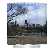 View Of Chicago Shower Curtain