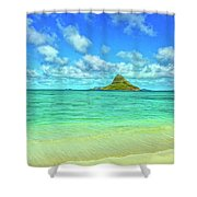 View Of Chinaman's Hat Shower Curtain