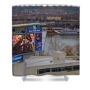 View Of Cincinnati Shower Curtain by Dan Sproul