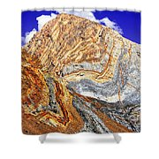 View Of Cliffs From Convict Lake Shower Curtain by Bob and Nadine Johnston