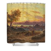 View Of Constantinople Shower Curtain
