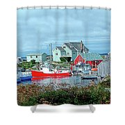 View Of Cove Shower Curtain