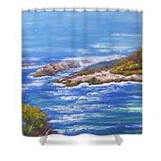 View Of Eden Australia Shower Curtain