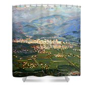 View Of Elbasan City Shower Curtain