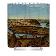 View Of Fort Snelling Shower Curtain