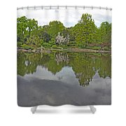 View Of Japanese Garden, Wroclaw, Poland Shower Curtain