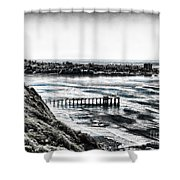 View Of La Jolla From Torrey Pines Cliffs Shower Curtain