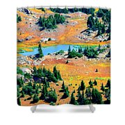 View Of Lake Shower Curtain