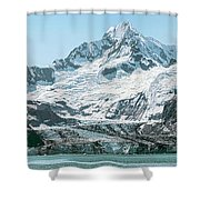 View Of Margerie Glacier In Glacier Bay Shower Curtain