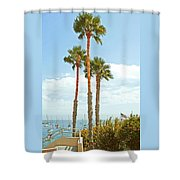 View Of Marina Shower Curtain