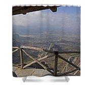 View Of Meteora From The Monastery   #9722 Shower Curtain