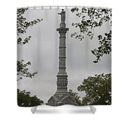 View Of Monument At Yorktown Shower Curtain by Teresa Mucha