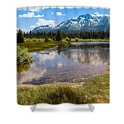 View Of Mount Tallac From Taylor Creek Beach Lake Tahoe Shower Curtain