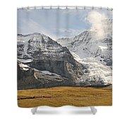 View Of Mt Eiger And Mt Monch, Kleine Shower Curtain
