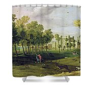 View Of Nonsuch Palace In The Time Shower Curtain