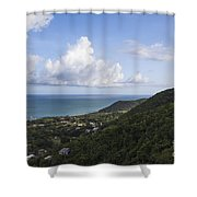 View Of Ocean And Punta Tuna In Puerto Rico Shower Curtain