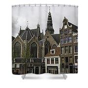 View Of Oude Kerk Amsterdam Shower Curtain