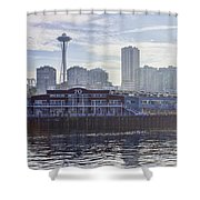View Of Pier 70 Shower Curtain