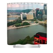 View Of Pittsburgh From Mt. Washington Shower Curtain