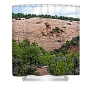 View Of Rock Dome Surface From Sandal Trail Across The Canyon In Navajo National Monument-arizona Shower Curtain