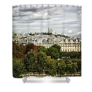 View Of Sacre Coeur From The Musee D'orsay Shower Curtain