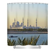 View Of Sheikh Zayed Grand Mosque Shower Curtain