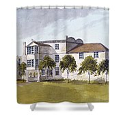View Of Sir Noel De Carons House, 1809 Wc On Paper Shower Curtain