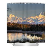 View Of Southside Mount Mckinley And Shower Curtain