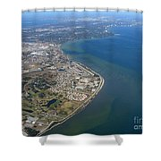 View Of Tampa Harbor Before Landing Shower Curtain
