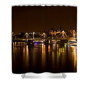 View Of Thames River From Waterloo Shower Curtain