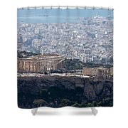 View Of The Acropolis From Lykavittos Hill Shower Curtain