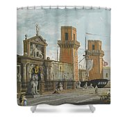 View Of The Arsenale. Venice Shower Curtain