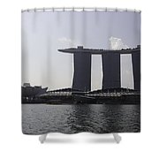 View Of The Artscience Museum And The Marina Bay Sands Resort Shower Curtain