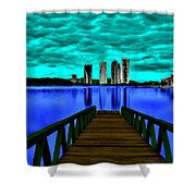 View Of The City Shower Curtain