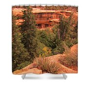 View Of The Cliffs From The Cliff Shower Curtain
