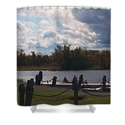 View Of The Creek From Catskill Point Shower Curtain