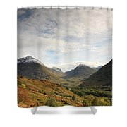 View Of The Glencoe Mountains Shower Curtain