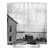View Of The Harbor Shower Curtain