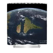 View Of The Indian Subcontinent Shower Curtain