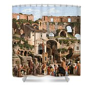 View Of The Interior Of The Colosseum Shower Curtain