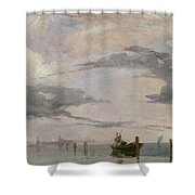 View Of The Lagoon Near Venice, 1826  Shower Curtain