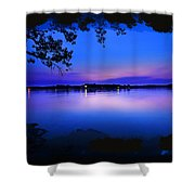 View Of The Night Lake Shower Curtain
