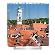 View Of The Old Town With St. Martins Shower Curtain