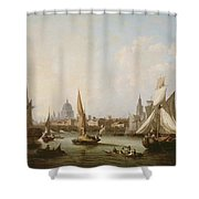 View Of The River Thames  Shower Curtain