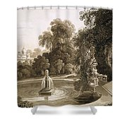 View Of The Temple Of Suryah Shower Curtain