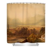 View Of Thebes Shower Curtain
