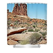 View Of Three Gossips In Arches Np-ut  Shower Curtain