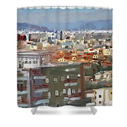 View Of Tirana From Dajti Mountain Shower Curtain