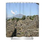 View Of Vesuvius Shower Curtain