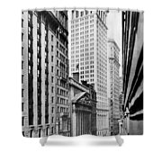 View Of Wall Street Shower Curtain